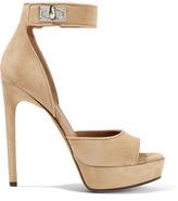 Givenchy Shark Lock Suede Platform Sandals - IT37.5