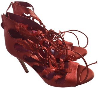 N. Oscar Tiye \N Red Leather Heels