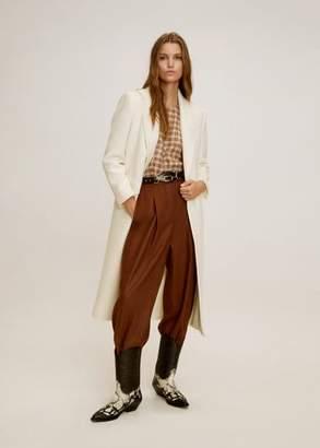 MANGO Structured wool coat off white - XS - Women