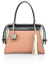 Tod's Twist Small Multicolor Leather Bauletto