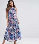 Gebe Maternity Nursing Woven Printed Maxi Dress