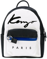 Kenzo small Signature backpack - women - Cotton/Leather/Polyurethane - One Size