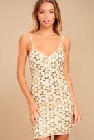 LuLu*s Ray of Sun Gold Sequin Bodycon Dress
