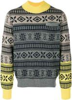 Sacai fairisle ombre sweater
