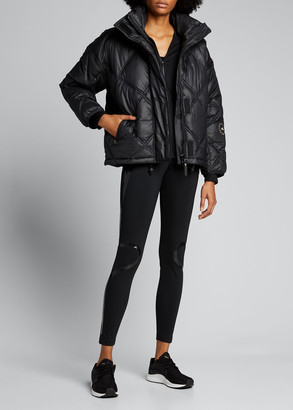 adidas by Stella McCartney Convertible Short Puffer Jacket w/ Removable Hood