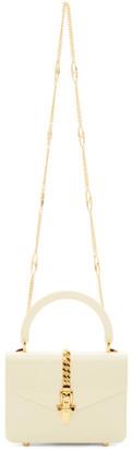 Gucci White Plexiglass Mini Sylvie Top Handle Bag