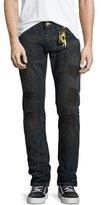 Robin's Jeans Five-Pocket Denim Jeans with Stamped-Detail, Blue