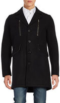 Karl Lagerfeld Wool-Blend Walker Coat