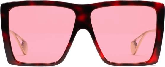 80482cde376 Gucci Pink Women s Sunglasses - ShopStyle