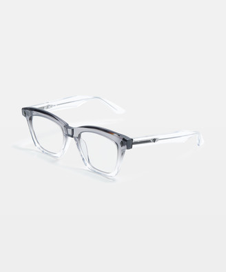 clear Hutch transparent Glasses Grey Fade To