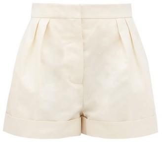 Marni Pleated-rise High-cut Cotton-drill Shorts - Cream