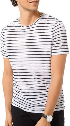 Michael Kors Men's Striped Slub T-Shirt