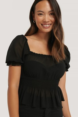 NA-KD Cropped Smock Top