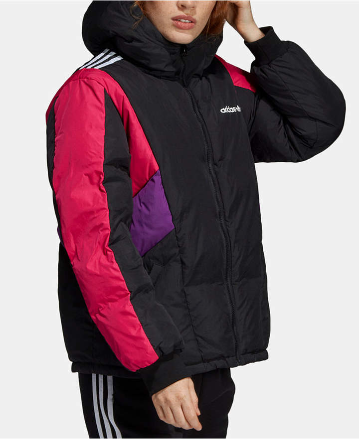 adidas 90s Colorblocked Hooded Down Jacket