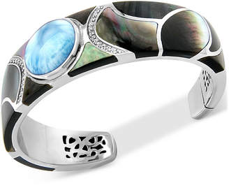 Marahlago Multi-Gemstone Cuff Bracelet in Sterling Silver