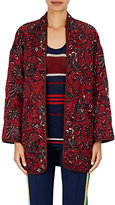 Etoile Isabel Marant Women's Daca Floral-Print Cotton Jacket-BURGUNDY
