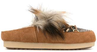 Moon Boot fur loafer-mules