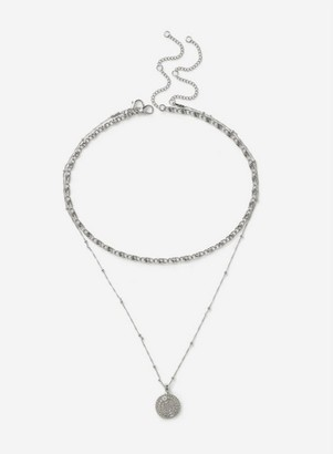 Dorothy Perkins Womens Silver Chunky Layered Necklace, Silver