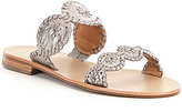 Jack Rogers Lauren Patent Whipstitched Slide-On Sandals