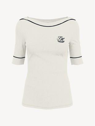 Tommy Hilfiger Essential Monogram Boatneck T-Shirt