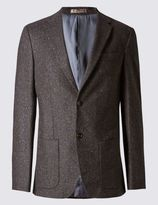 Marks and Spencer Tailored Fit 2 Button Jacket Jacket