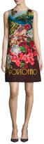 Dolce & Gabbana Portofino Silk Printed Shift Dress