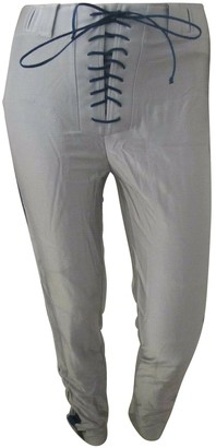 Unravel Project Silver Synthetic Trousers