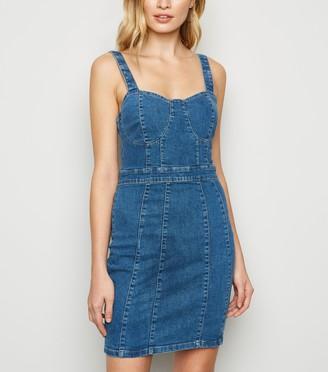New Look Urban Bliss Denim Mini Bodycon Dress
