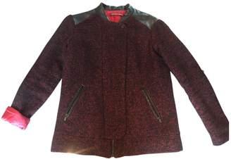 Comptoir des Cotonniers \N Burgundy Wool Coat for Women