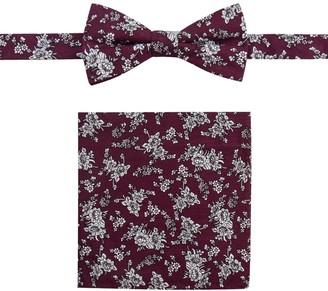 Apt. 9 Men's Glenburn Floral Bow Tie & Pocket Square Set