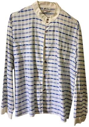 Courreges Blue Linen Top for Women Vintage