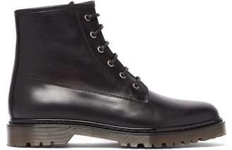 A.P.C. Ezra Lace-up Leather Boots - Mens - Black