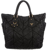 Prada Quilted Tessuto Side Pocket Satchel