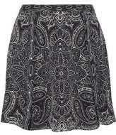 Haute Hippie Printed Silk-Chiffon Flared Mini Skirt