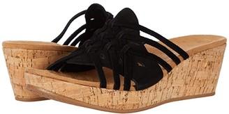 Minnetonka Bria (Black Suede) Women's Sandals