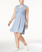 ING Trendy Plus Size Cutout A-Line Dress