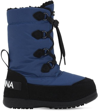 Dolce & Gabbana Nylon Water Resistant Snow Boots