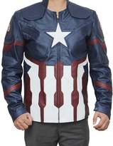 Fjackets Star logo Super Hero Leather Jacket L