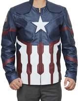 Fjackets Super Hero Star Logo Leather Jacket Costume XL