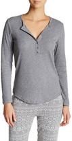 Joe Fresh Long Sleeve Ribbed Henley Shirt