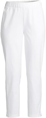 Eileen Fisher Mid-Rise Slit Ankle Pants
