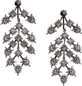 Noir Bristol Chandelier Gunmetal-Tone Crystal Earrings