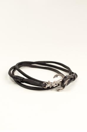 Profound Aesthetic Emancipated Soul Genuine Leather Bracelet: Black