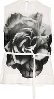McQ by Alexander McQueen Printed georgette blouse