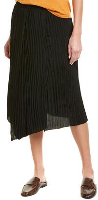 Vince Crinkle Pleated Silk-Blend Skirt