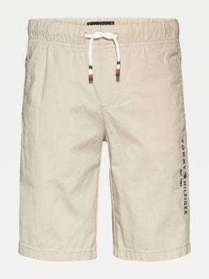 Tommy Hilfiger Stretch Cotton Poplin Logo Shorts