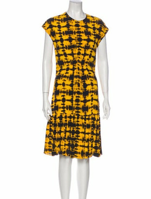 Proenza Schouler Tie-Dye Print Knee-Length Dress Yellow