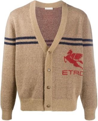 Etro V-neck logo cardigan