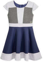Sean John Jacquard-Trim Scuba Dress, Big Girls (7-16)