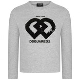 DSQUARED2 Dsquared2Girls Grey Sequin Logo Top